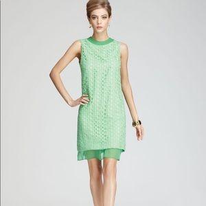 DVF   Green Pakuna Open Circle Lace Dress   4
